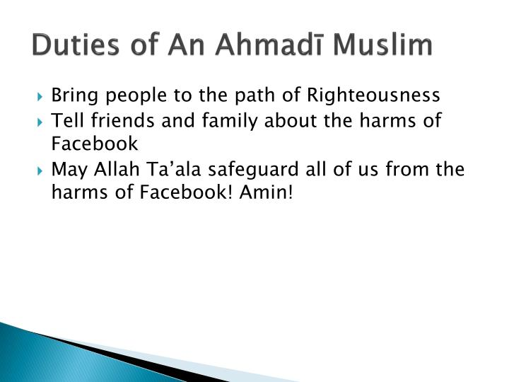 Duties of An Ahmadī Muslim