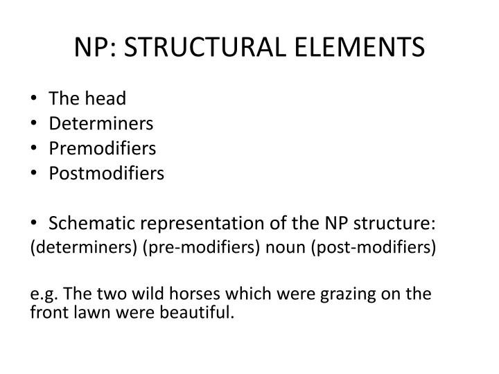 NP: STRUCTURAL ELEMENTS