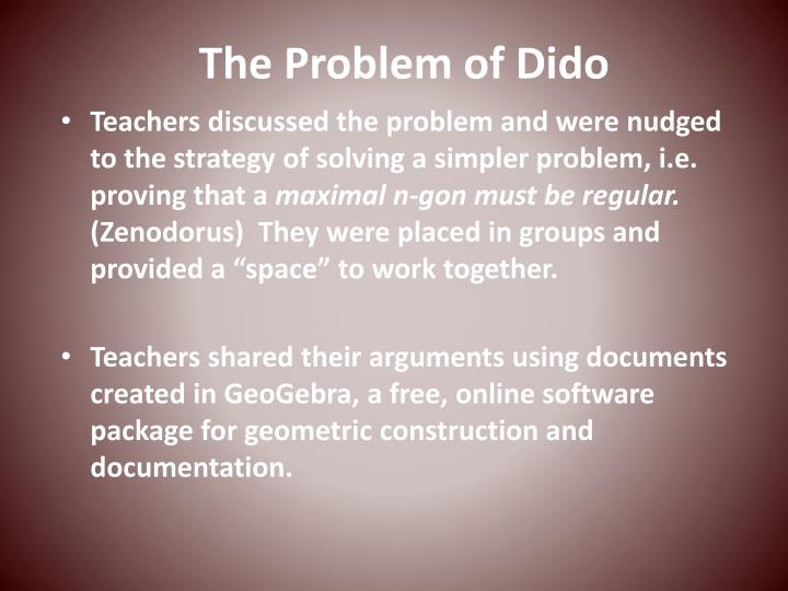 The Problem of Dido