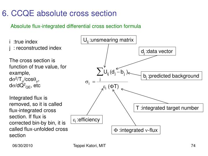 6. CCQE absolute cross section