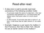 read after read