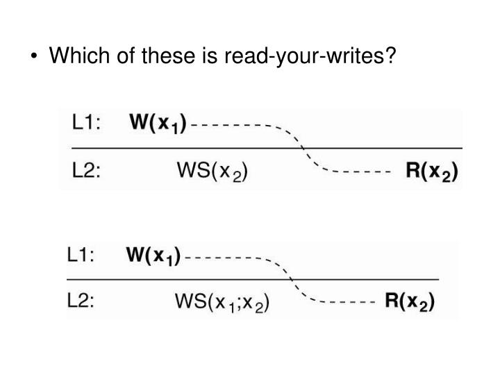 Which of these is read-your-writes?