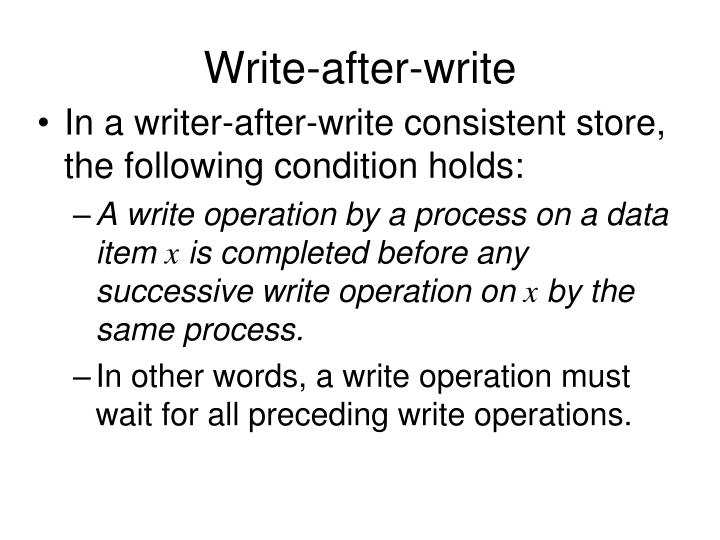 Write-after-write