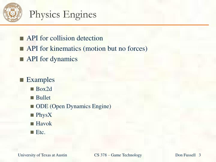 Physics Engines