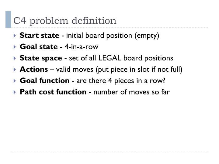 C4 problem definition
