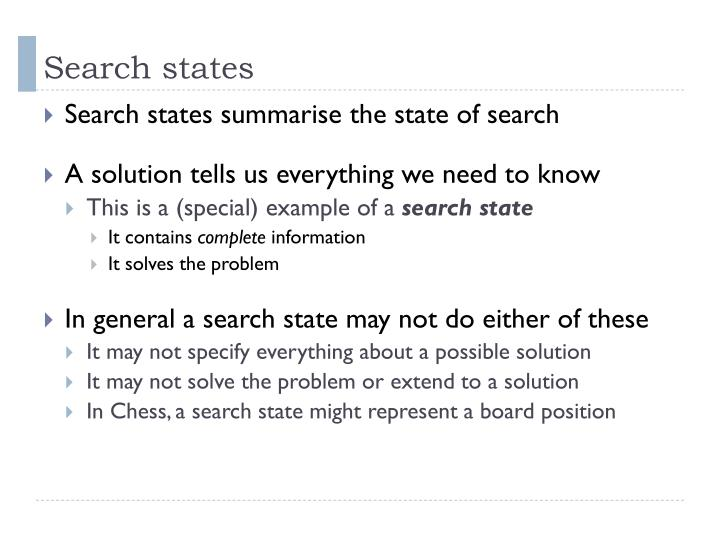 Search states