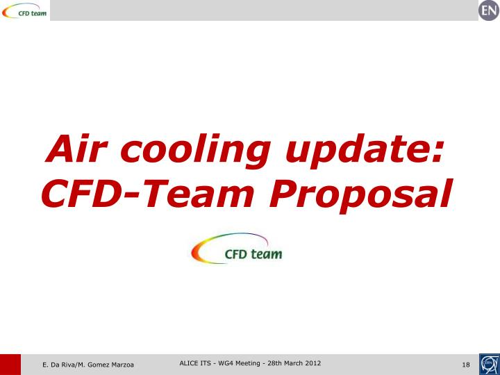 Air cooling update: CFD-Team Proposal