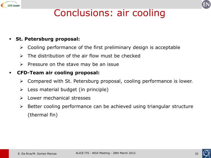 Conclusions: air cooling