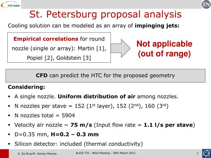 St. Petersburg proposal analysis