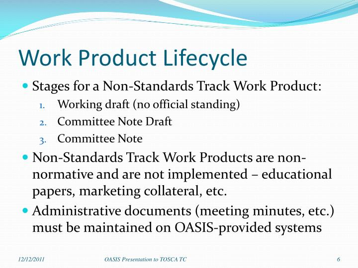 Work Product Lifecycle