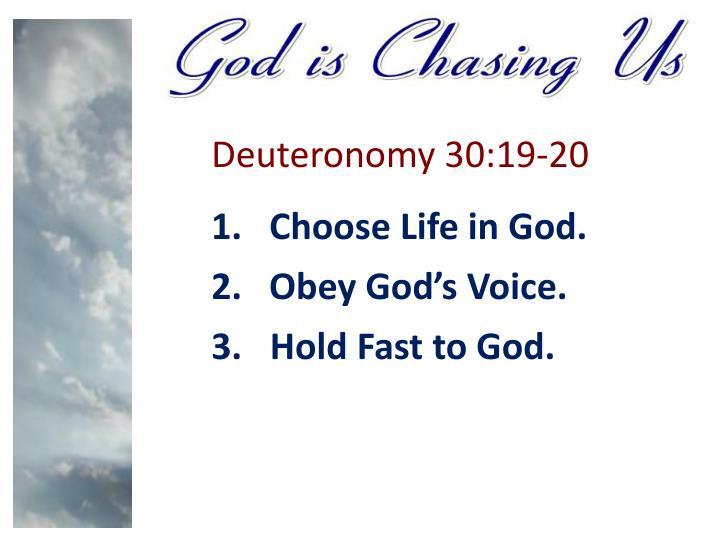 Deuteronomy 30:19-20