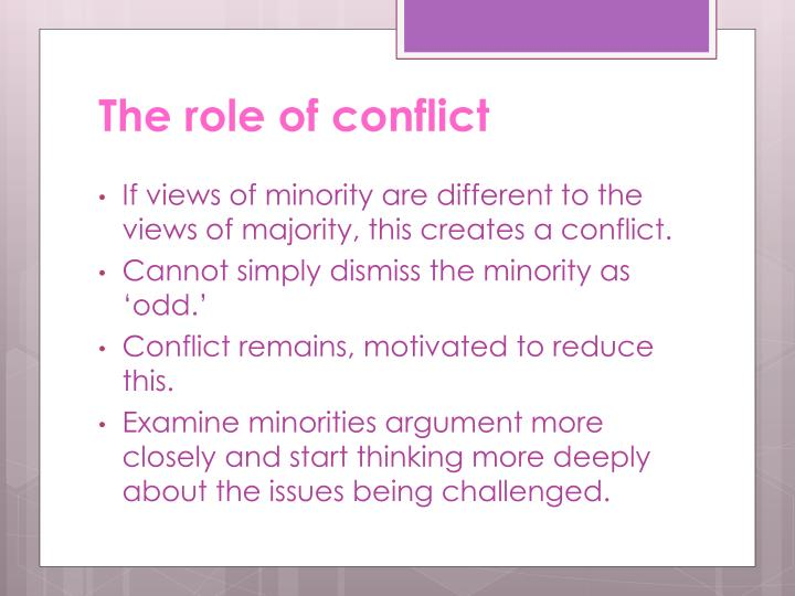 The role of conflict