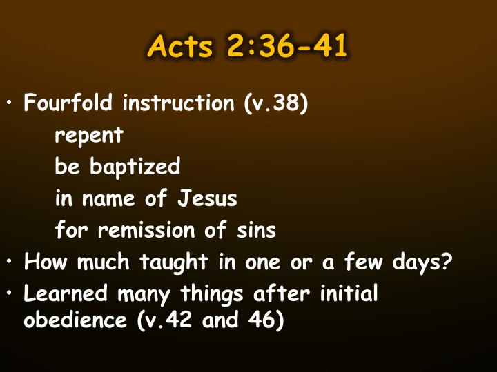 Acts 2:36-41