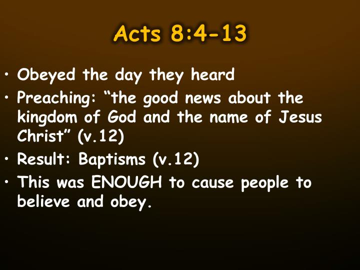 Acts 8:4-13