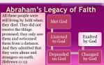 abraham s legacy of faith1