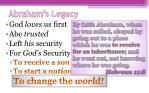 abraham s legacy7
