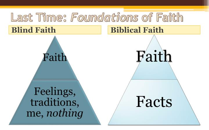 Last time foundations of faith