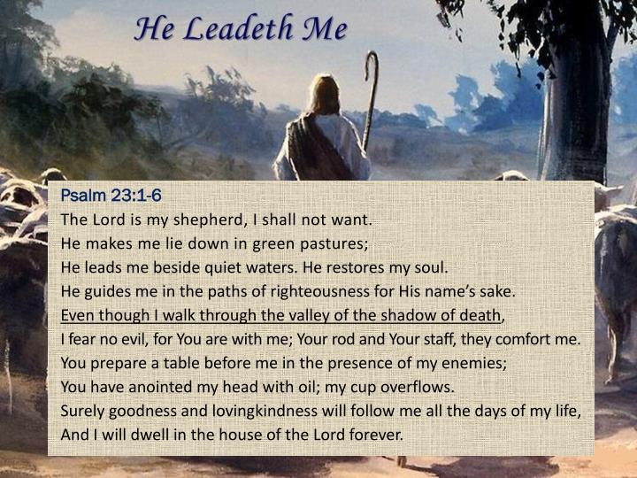 Psalm 23:1-6