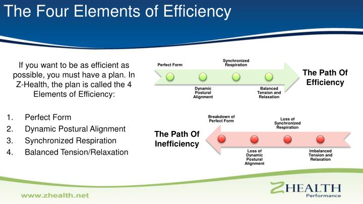 The Four Elements of Efficiency