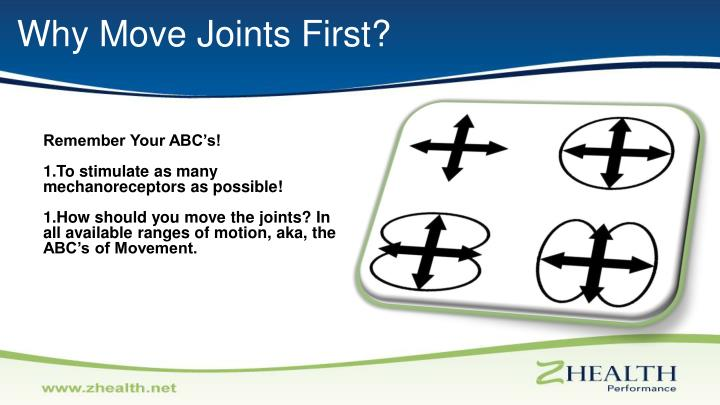 Why Move Joints First?
