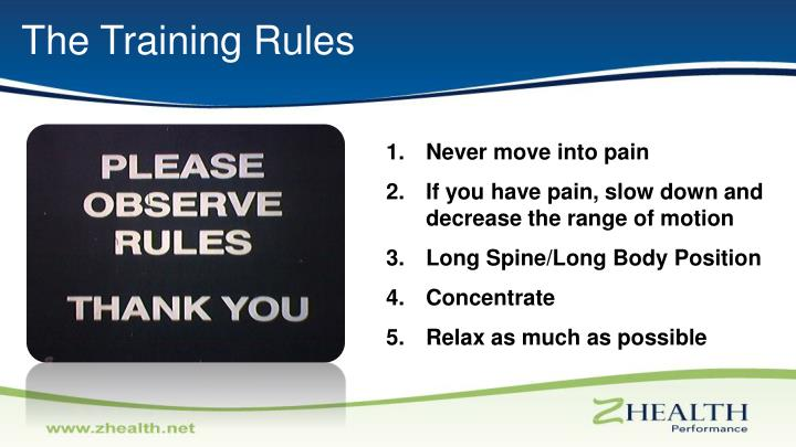 The Training Rules