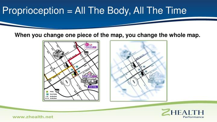 Proprioception = All The Body, All The Time