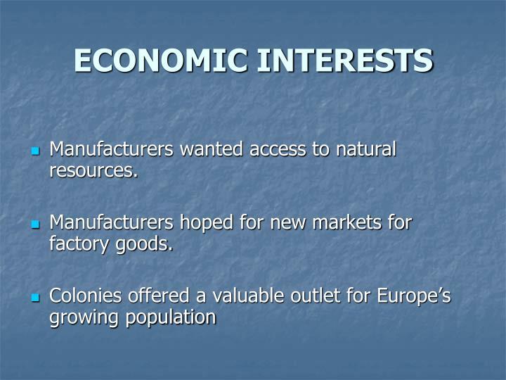 ECONOMIC INTERESTS