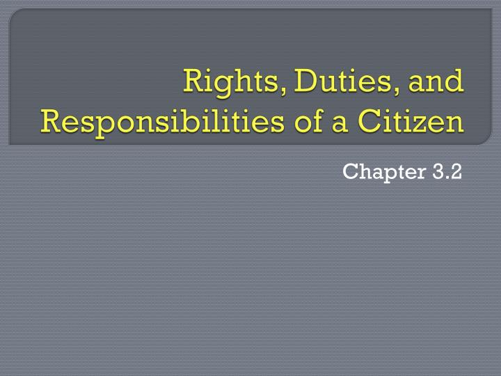 right and duties of citizens Learn about your rights and responsibilities as a new us citizen if you pursue  naturalization these include voting and supporting the.