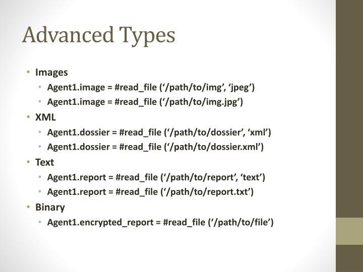 Advanced Types