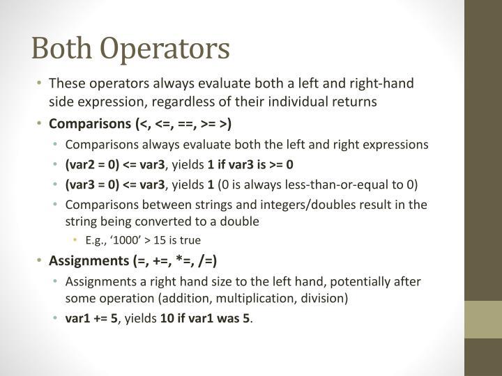 Both Operators