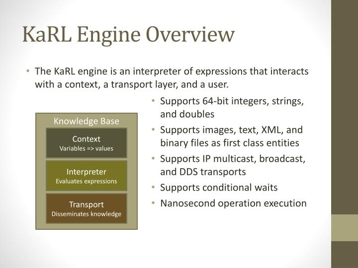 Karl engine overview