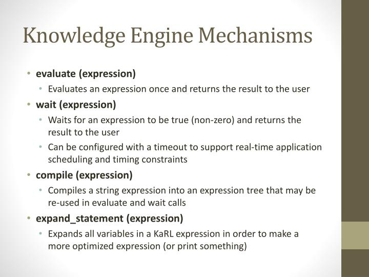 Knowledge Engine Mechanisms