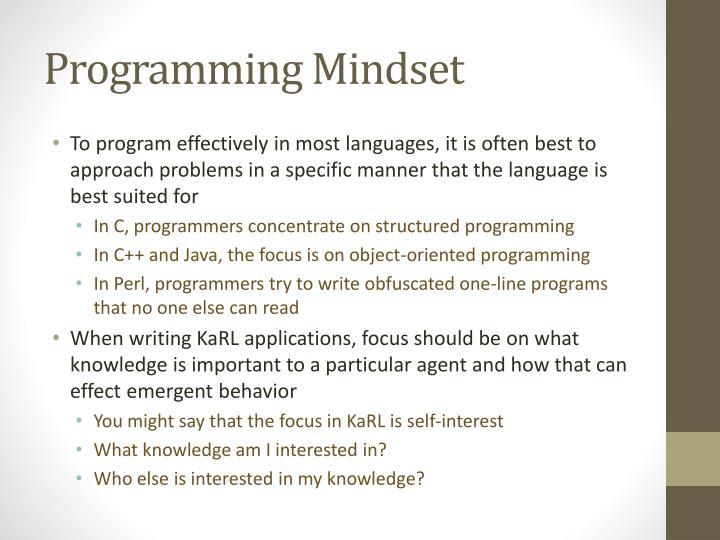 Programming Mindset