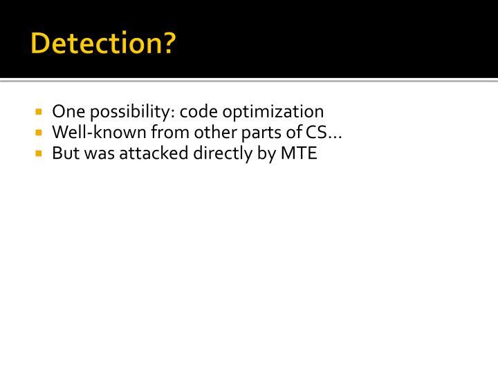 Detection?