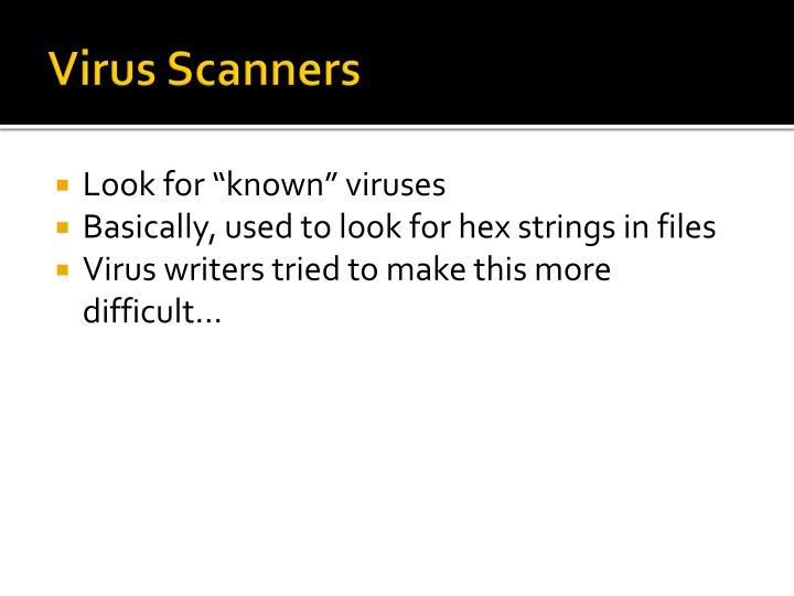 Virus Scanners