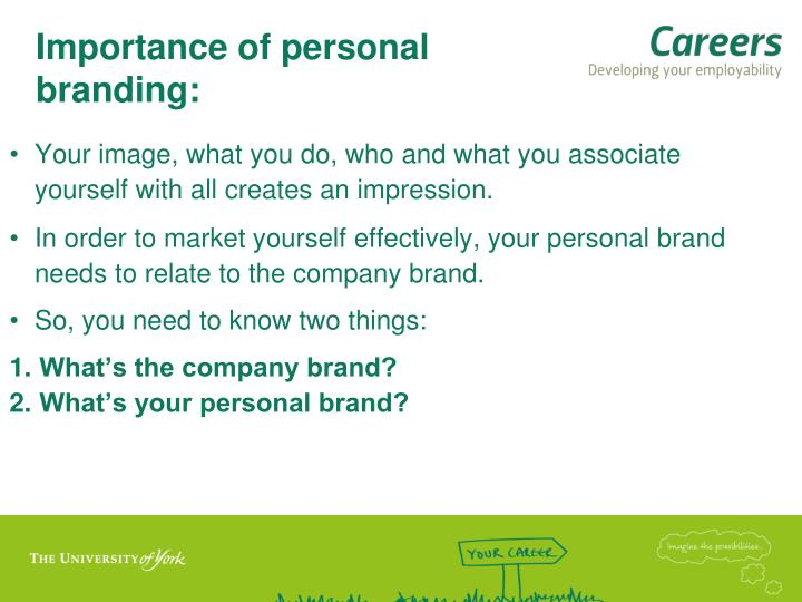 Importance of personal branding: