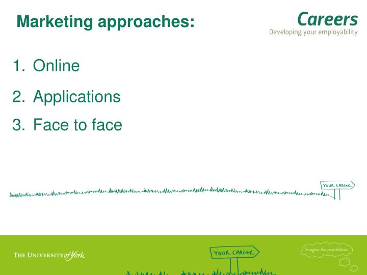 Marketing approaches: