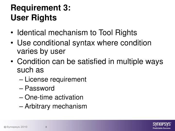 Requirement 3: