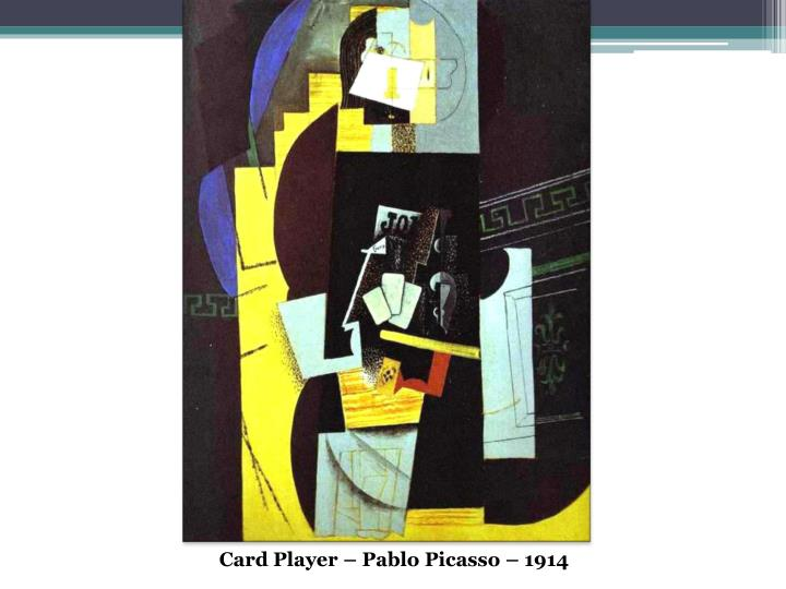 Card Player – Pablo Picasso – 1914