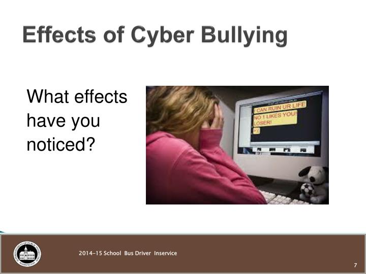 Effects of Cyber Bullying