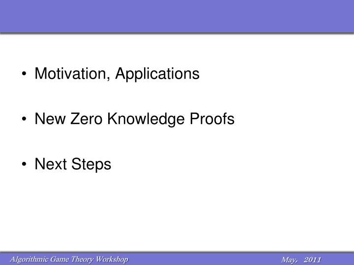 Motivation, Applications