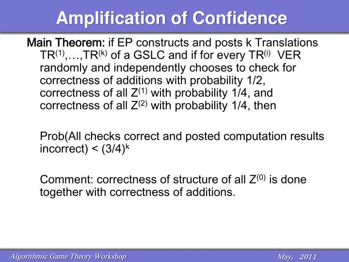 Amplification of Confidence