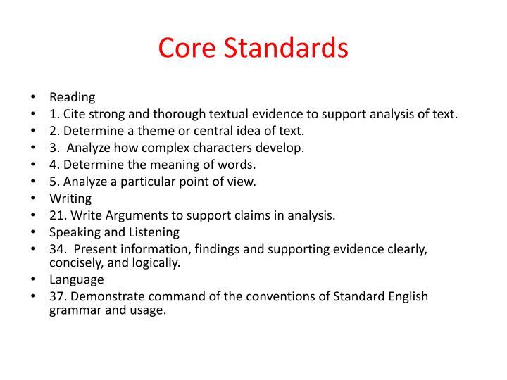 Core Standards