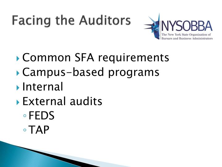 Facing the Auditors