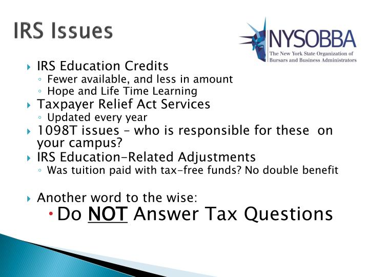 IRS Issues