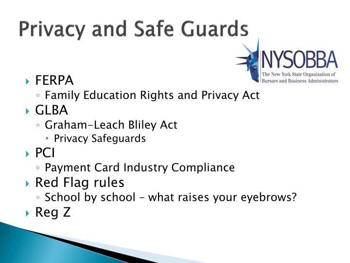 Privacy and Safe Guards