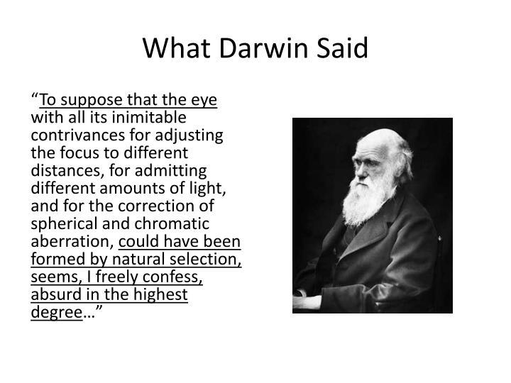 What Darwin Said