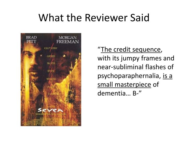 What the Reviewer Said