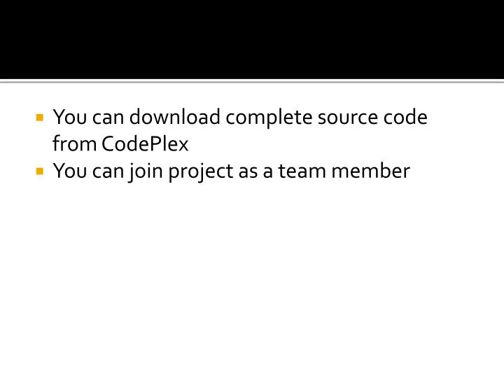 You can download complete source code from