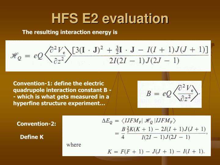 HFS E2 evaluation